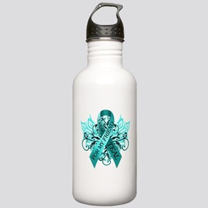 I Wear Teal for my Friend Stainless Water Bottle 1