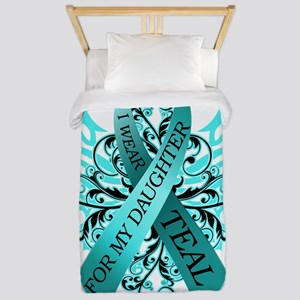 I Wear Teal for my Daughter Twin Duvet