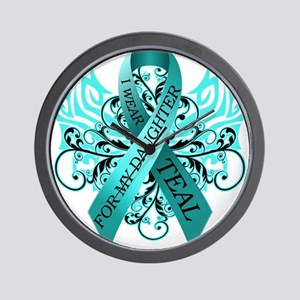 I Wear Teal for my Daughter Wall Clock