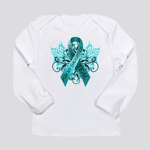I Wear Teal for my Daughter Long Sleeve Infant T-S