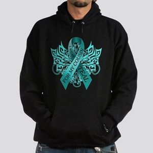 I Wear Teal for my Cousin Hoodie (dark)