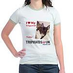 Personalized Tipawds UK Jr. Ringer T-Shirt