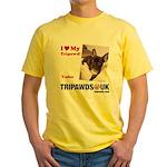 Personalized Tipawds UK Yellow T-Shirt