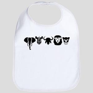 Africa animals big five Bib