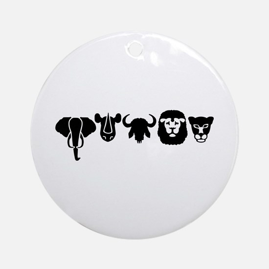Africa animals big five Ornament (Round)