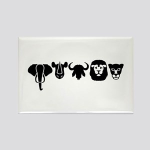 Africa animals big five Rectangle Magnet