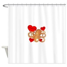 Personalized Octopus Valentine Shower Curtain
