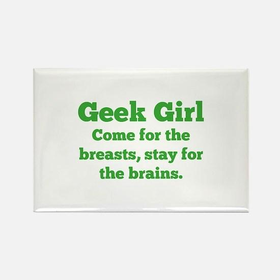Geek Girl Rectangle Magnet