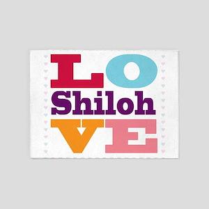 I Love Shiloh 5'x7'Area Rug