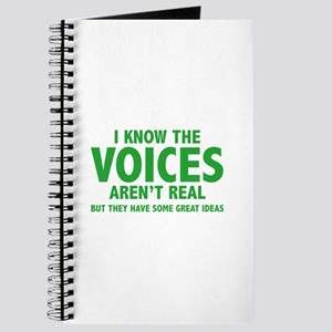 I Know The Voices Aren't Real Journal