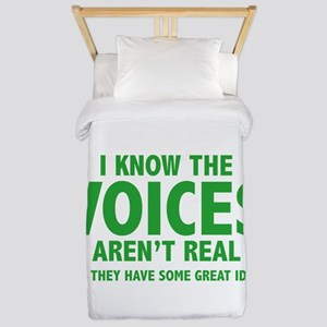 I Know The Voices Aren't Real Twin Duvet