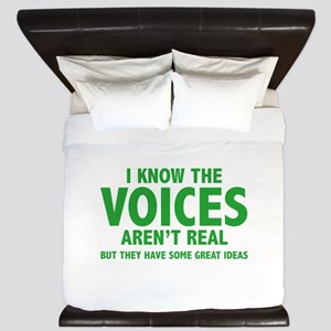 I Know The Voices Aren't Real King Duvet