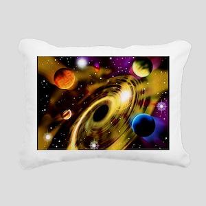 Planets around a black hole - Rectangular Canvas P