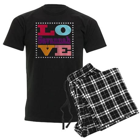 I Love Savannah Men's Dark Pajamas