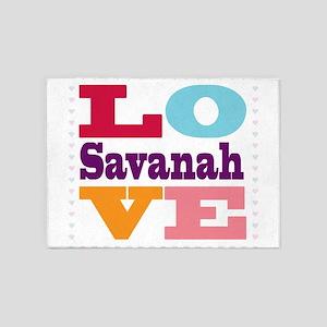 I Love Savanah 5'x7'Area Rug
