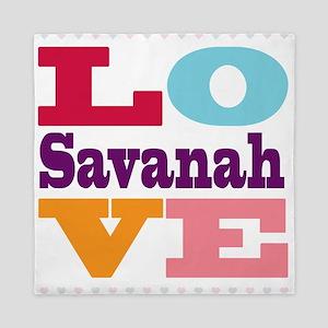 I Love Savanah Queen Duvet