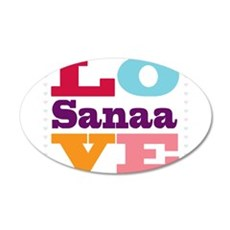 I Love Sanaa Wall Decal