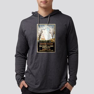 Baltimore and Ohio Railroad Mens Hooded Shirt