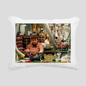 Lego construction - Rectangular Canvas Pillow