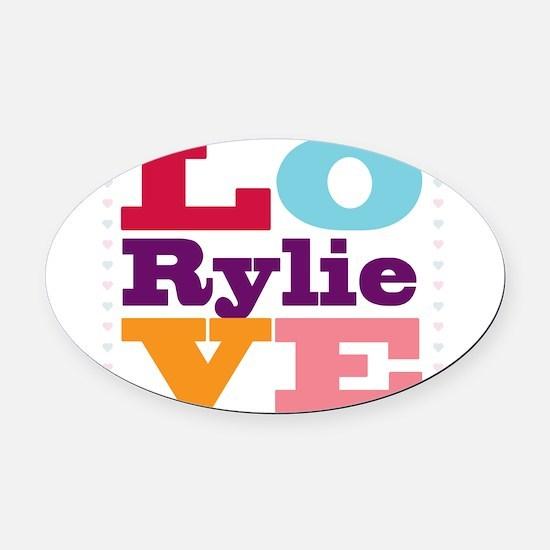I Love Rylie Oval Car Magnet