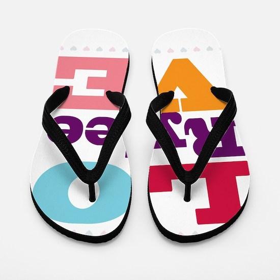 I Love Rylee Flip Flops