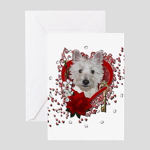 Valentines - Key to My Heart - Westie Greeting Car