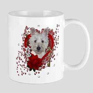 Valentines - Key to My Heart - Westie Mug