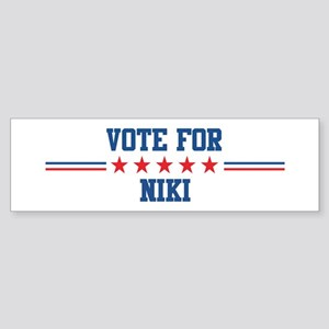 Vote for NIKI Bumper Sticker