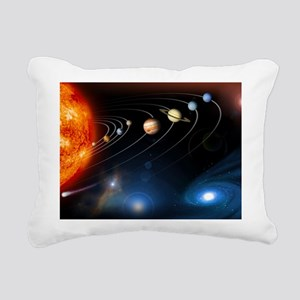 Solar system planets - Rectangular Canvas Pillow