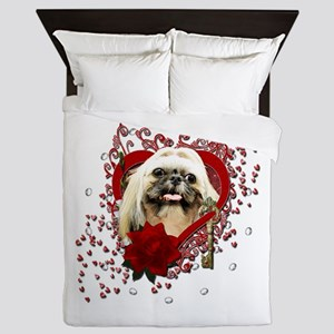 Valentines - Key to My Heart - Shih Tzu Queen Duve