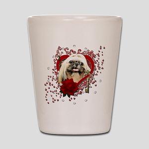 Valentines - Key to My Heart - Shih Tzu Shot Glass