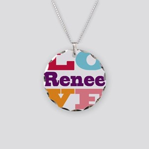 I Love Renee Necklace Circle Charm