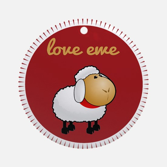 Love Ewe Ornament (Round)
