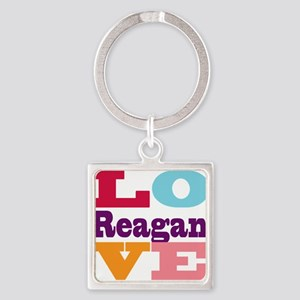 I Love Reagan Square Keychain