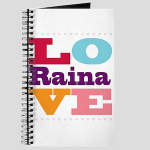 I Love Raina Journal