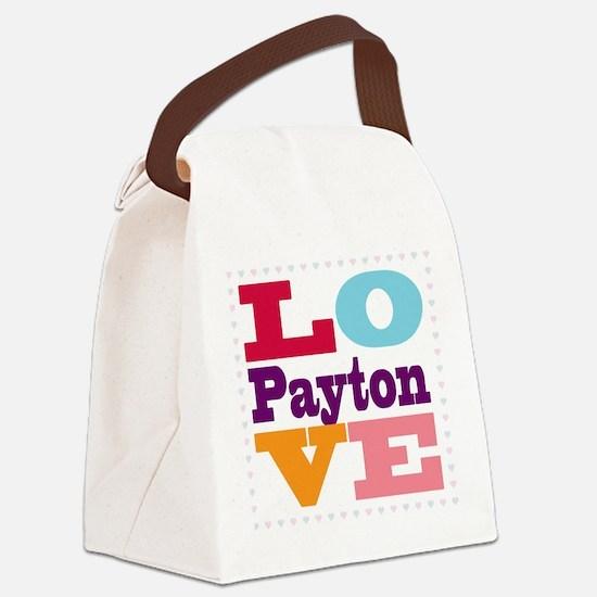 I Love Payton Canvas Lunch Bag