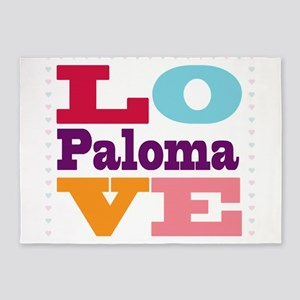 I Love Paloma 5'x7'Area Rug