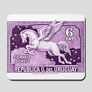 Antique 1930 Uruguay Pegasus Postage Stamp Mousepa