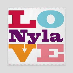 I Love Nyla Queen Duvet