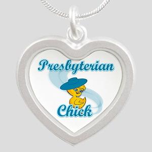 Presbyterian Chick #3 Silver Heart Necklace