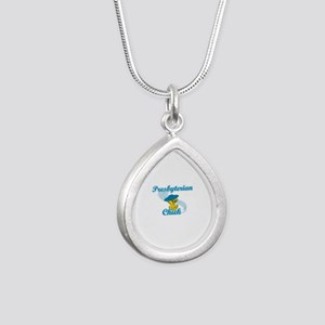 Presbyterian Chick #3 Silver Teardrop Necklace
