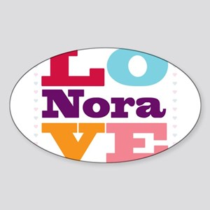 I Love Nora Sticker (Oval)