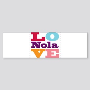 I Love Nola Sticker (Bumper)