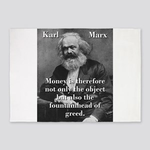 Money Is Therefore - Karl Marx 5'x7'Area Rug