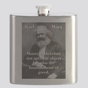Money Is Therefore - Karl Marx Flask