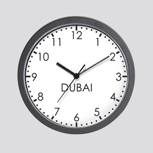 DUBAI Modern Newsroom Wall Clock