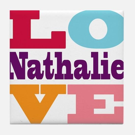 I Love Nathalie Tile Coaster