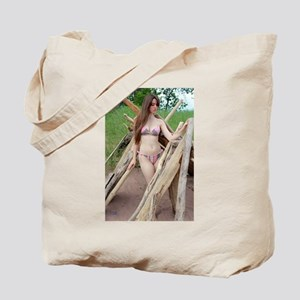 Sexy Swimsuit Model Tote Bag