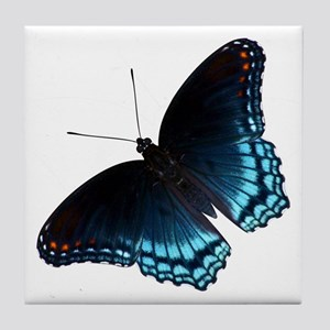Red Spotted Purple Butterfly Tile Coaster