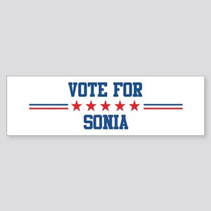 Vote for SONIA Bumper Sticker